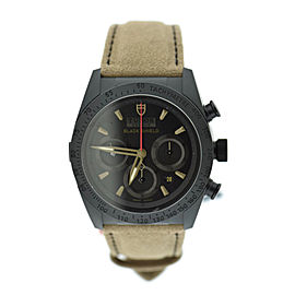 Tudor Fastrider Blackshield 42000CN PVD Stainless Steel & Leather Automatic 42mm Mens Watch