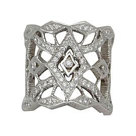 """Doris Panos """"Ti Amo"""" 18K White Gold 1.10ct Diamond Ring Size 6.25"""