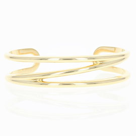 Tiffany & Co. 18K Yellow Gold Zig Zag Cuff Bracelet