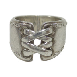 Hermes 925 Sterling Silver Ring Size 5