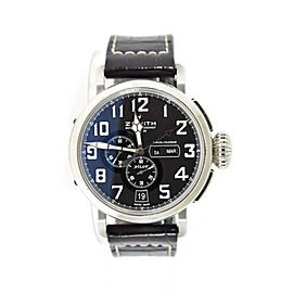 Zenith Pilot 03.2430.4054 Stainless Steel & Leather Automatic 48mm Mens Watch