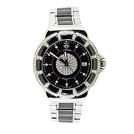 Tag Heuer Formula One WH1219 Ceramic/Stainless Steel wDiamond Quartz 37mm Womens Watch