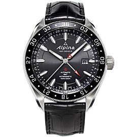 Alpina AL-550G5AQ6 Stainless Steel & Leather Automatic 44mm Mens Watch