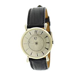 LeCoultre 14K White Gold & Leather Vintage 32mm Unisex Watch