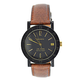Bulgari Las Vegas Carbon & Leather Automatic 34mm Unisex Watch