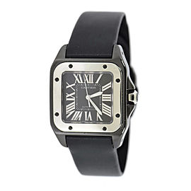 Cartier Santos 100 W2020008 Stainless Steel Automatic 36mm Mens Watch