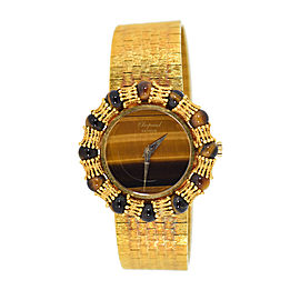Chopard Tigers Eye 18K Yellow Gold Manual Vintage 31mm Womens Watch