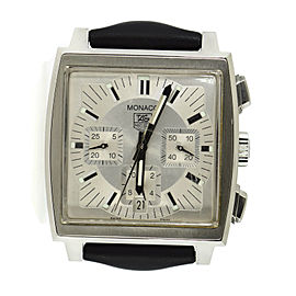 Tag Heuer Monaco CW2112 Stainless Steel & Leather Automatic 38mm Mens Watch