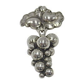 Georg Jensen 925 Sterling Silver Moonlight Grapes Brooch