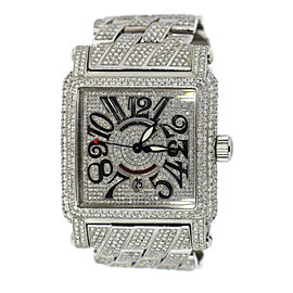 Franck Muller Conquistador 10000 Stainless Steel with Diamond Automatic 45mm Mens Watch