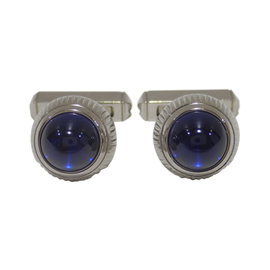 Cartier 925 Sterling Silver Synthetic Spinel Cufflinks