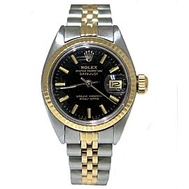 Rolex Oyster Perpetual 6917 14K Yellow Gold & Stainless Steel Automatic Vintage 26mm Watch 1977