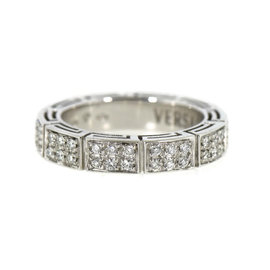 Versace 18K White Gold with 1.2ct Diamond Ring Size 8.5
