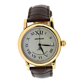 Montblanc Star Collection 101640 18K Rose Gold & Leather Automatic 40mm Mens Watch