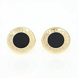 Bulgari 18K Yellow Gold with Onyx Cufflinks