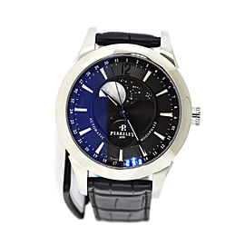 Perrelet Moonphase A1039/7 Stainless Steel with Black Dial 42mm Mens Watch