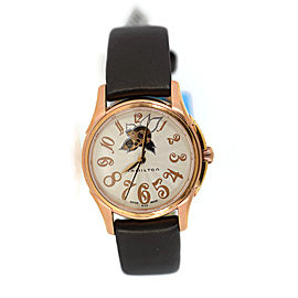 Hamilton Jazz Master H32345483 Rose Gold Tone Stainless Steel & Leather Automatic 34mm Womens Watch