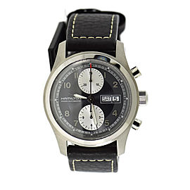 Hamilton Khaki Field H71566583 Stainless Steel & Leather Automatic 42mm Mens Watch