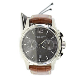 Hamilton Jazzmaster H32606585 Stainless Steel & Leather Automatic 43mm Mens Watch