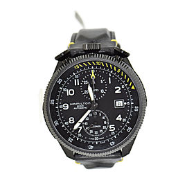 Hamilton Khaki Aviation H76786733 Stainless Steel & Leather Automatic 46mm Mens Watch