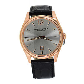 Hamilton Jazzmaster H38645755 Rose Gold Tone Stainless Steel & Leather Automatic 43mm Mens Watch