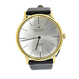 Hamilton Intra-Matic H38735751 Gold Tone Stainless Steel & Leather Automatic 42mm Mens Watch