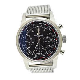 Breitling Transocean AB0510U6 Stainless Steel Black Dial 46mm Mens Watch