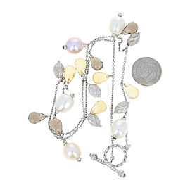 Roberto Coin 925 Sterling Silver with Citrine, Freshwater Pearl & Gemstone Necklace