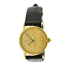 Corum Vintage 1881 $5 Gold Coin 24mm Womens Watch