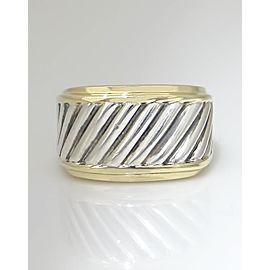 David Yurman 925 Sterling Silver 14K Yellow Gold Ring Size 8.25