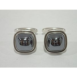 392134133248-E Sterling Silver Hematite Cufflinks