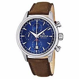 Alpina Alpiner Blue Dial Chronograph Stainless Steel Watch AL-750N4E6