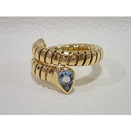 Bvlgari 18K Yellow Gold Topaz Ring Size 6.5