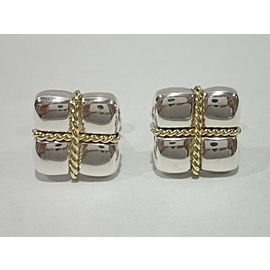 Tiffany & Co. 18K Yellow Gold, Sterling Silver Cufflinks