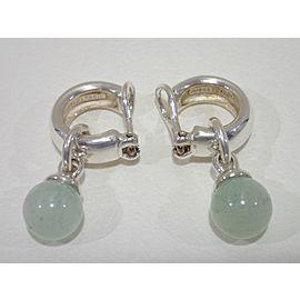 Tiffany & Co. Sterling Silver Aventurine Earrings