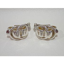 Hermes Sterling Silver Earrings