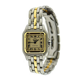 Cartier Panthere Special Edition Crown Two Tone Stainless Steel Watch