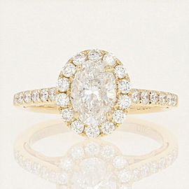 14K Yellow Gold Diamond Engagement Ring Size 6.75