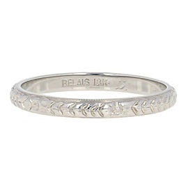 18K White Gold Wedding Ring Size 8