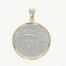 14K Yellow Gold, Platinum Pendant