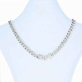 David Yurman Sterling Silver Diamond Necklace
