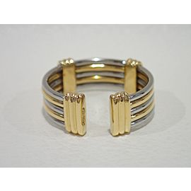 Cartier 18K Yellow Gold, Stainless Steel Ring Size 6