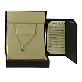 Bulgari 18K White Gold Diamond Pendant Necklace