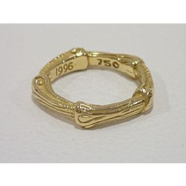 Tiffany & Co. 18K YG Bamboo Ring Size 4.5