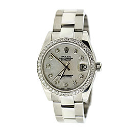 Rolex Datejust Diamond Stainless Steel Watch 178240
