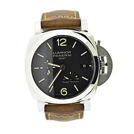Panerai Luminor GMT 1950 3 Day Stainless Steel Watch PAM537