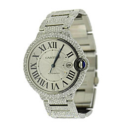 Cartier Ballon Bleu 25 CTW Diamond Stainless Steel Watch W69012Z4