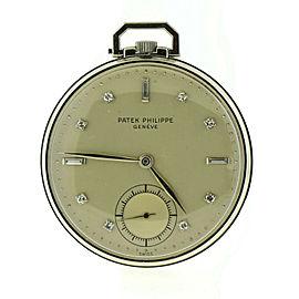 Patek Philippe Diamond Platinum Pocket Watch 600