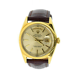 Rolex Day-Date President 18K Yellow Gold Watch 1802