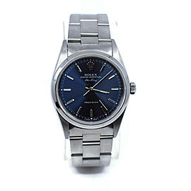 Rolex Airking Blue Dial Stainless Steel Watch 14000